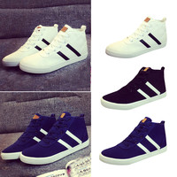 Canvas Lace-Up High Top Sneakers