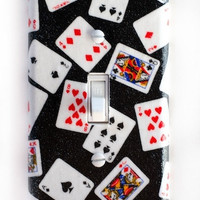 Deck of Playing Cards Single Toggle Switchplate Cover Switch Plate