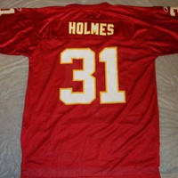 PRIEST HOLMES #31 KANSAS CITY CHIEFS NFL REPLICA JERSEY SHIPPING