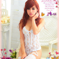 Valentine's day Gift Sexy Lingerie Nice Bridal Costume dress cosplay outfit 4pcs