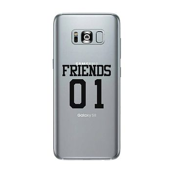 Friend01-RIGHT Clear Case Funny BFF Matching Gift Phone Case Slim
