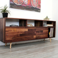 Walnut Console TV Stand Media Console Wood Furniture Console Table TV Console Entertainment Center Modern Console Mid Century Furniture