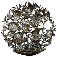 School of Fish - 24 Inch Metal Art - Croix des Bouquets