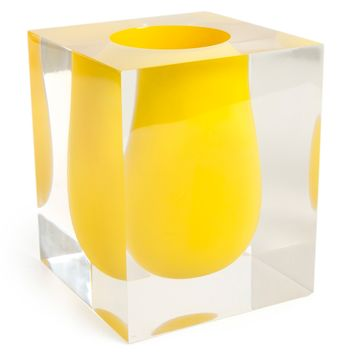 Jonathan Adler Bel Air Scoop Vase Yellow