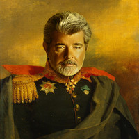 George Lucas - replaceface Art Print by Replaceface