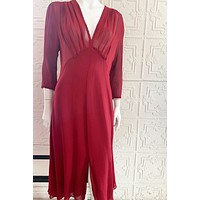 ULF Andersson Red Midi Dress