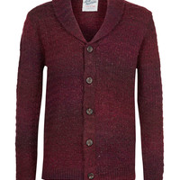 Burgundy Ombre Shawl Cardigan - Cardigans & Sweaters - New In - TOPMAN USA