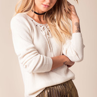 Aaron Lace Up Pullover