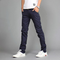 Khaki Joggers Casual Fashion Pants for Men of Solid Outside Train Slacks