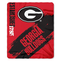 Georgia Bulldogs NCAA Light Weight Fleece Blanket (Painted Series) (50inx60in)