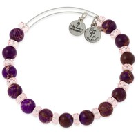 Grape Carousel Beaded Bangle