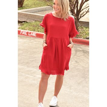 The Carly Dress - Red