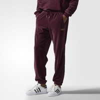 adidas Velour Sweat Pants - Brown | adidas US
