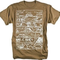 Early Civilization History Vintage Illustration Graphic Tee Shirt