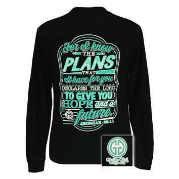 Girlie Girl For I Know the Plans Hope & Future JEREMIAH 29:11 Christian Long Sleeve T Shirt