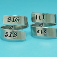 Sisters Ring Set - Big Sis Lil Sis