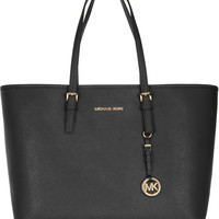 MICHAEL Michael Kors - Jet Set Travel textured-leather tote