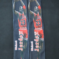 Michael Jordan Chicago Bulls 23 All Over Print Custom Printed High Long Cotton Socks