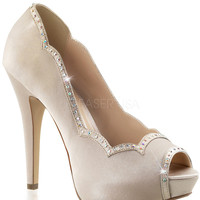 Fabulicious Rhinestone Off White Pumps