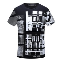 Versace Fashion Casual Shirt Top Tee-81