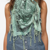 Urban Outfitters - Pins and Needles Printed Silk Square Scarf