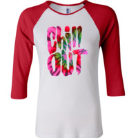 chill out 3/4 Sleeve Baseball Ladies Jersey