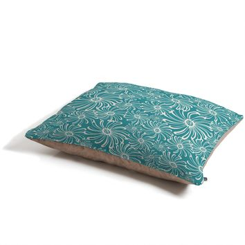 Heather Dutton Bursting Bloom Peacock Pet Bed