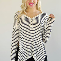 Daydreaming Striped Sweater
