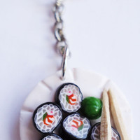 KEYCHAIN  Sushi Charm by FrozenNote on Etsy