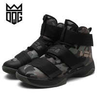 DQG Men's Basketball Shoes Air Damping Men Sports Sneakers High Top Breathable Nylon Trainers Shoes Men Outdoor Jordan Shoes