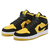 NIKE AIR JORDAN1 Mid Fashion New Hook Women Men Sports Leisure Shoes