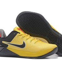 HCXX N274 Nike Zoom Kobe 12 A.D EP Actual Combat Basketball Shoes Yellow Black Red