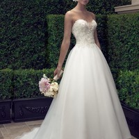 Casablanca Bridal 2191 Strapless Beaded Ball Gown Wedding Dress