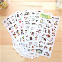6 Sheets set Gudetama sticker Japanese Cat pvc stickers for diary book laptop scrapbooking Kawaii Stationery School supplies