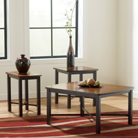 Fletcher Birch and Cherry Coffee Table Set by Ashley Furniture