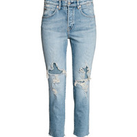 Slim High Cropped Jeans - from H&M
