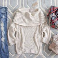 The Nubby Knit Sweater in Cream