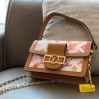 LV Mini Vintage Colorblock Chain Bag Shoulder Bag Crossbody Bag