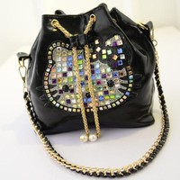 Hot Selling ! 2014 new arrival high quality hello kitty bag lady's women's diamond handbag shoulder bag HB1119 1 -in Top-Handle Bags from Luggage & Bags on Aliexpress.com | Alibaba Group