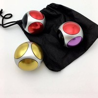 Football Hand Spinner 4 colors fingertips gyro 5 bearing fidget toys round polyhedron Handspinner EDC toys Turn 1-2 minutes T209