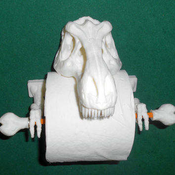 T-Rex Toilet Paper Holder 3D Printed - Bathroom accessories.