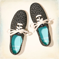 Hollister + Keds Champion Black & White Print Sneakers