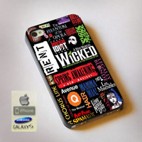 Broadway Musical Collage - Print on Hard Plastic, available for iPhone and Samsung Galaxy. Choose for your device