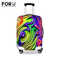Bright Graffiti Travel Luggage Accessories Protective Elastic Covers Bags Waterproof Suitcase Cover For 18-30 inch Trunk Case