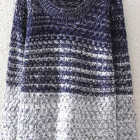 Dark Blue Ombre Sweater