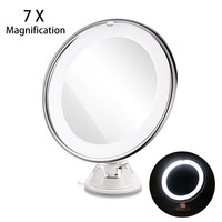 Ruimo Adjustable 7X Magnification Lighted LED Makeup Mirror