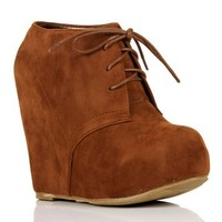 Chestnut Platform Booties