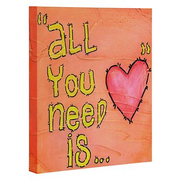 Isa Zapata All You Need Is Love Art Canvas