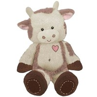 "First & Main Plush Stuffed Brown on White Cow, 8"" Sitting Position - Walmart.com"