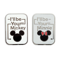 Disney I' ll be your Mickey and Minnie Mouse Icon Pin Set